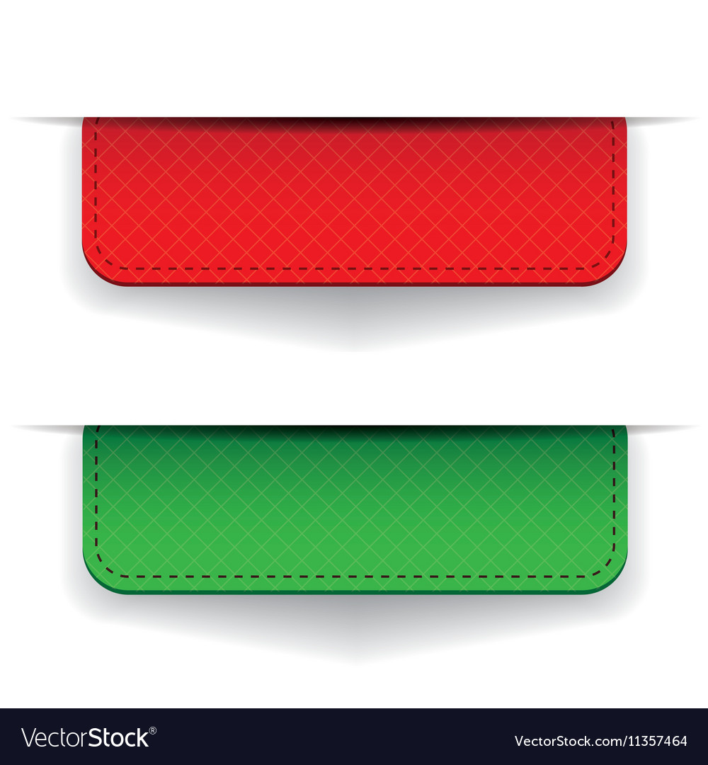 Red and green ribbon set