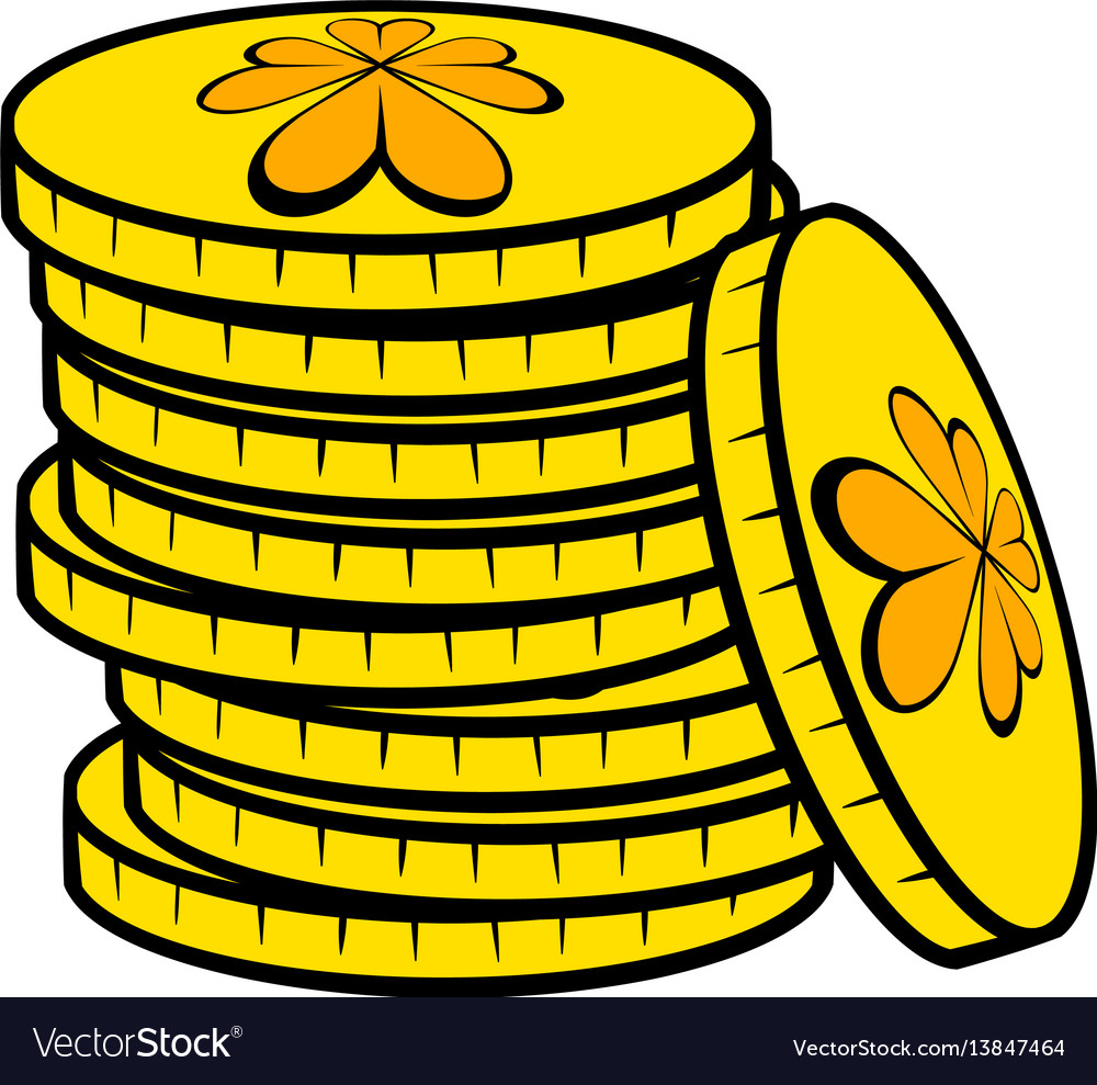 Stacks of gold coins icon icon cartoon
