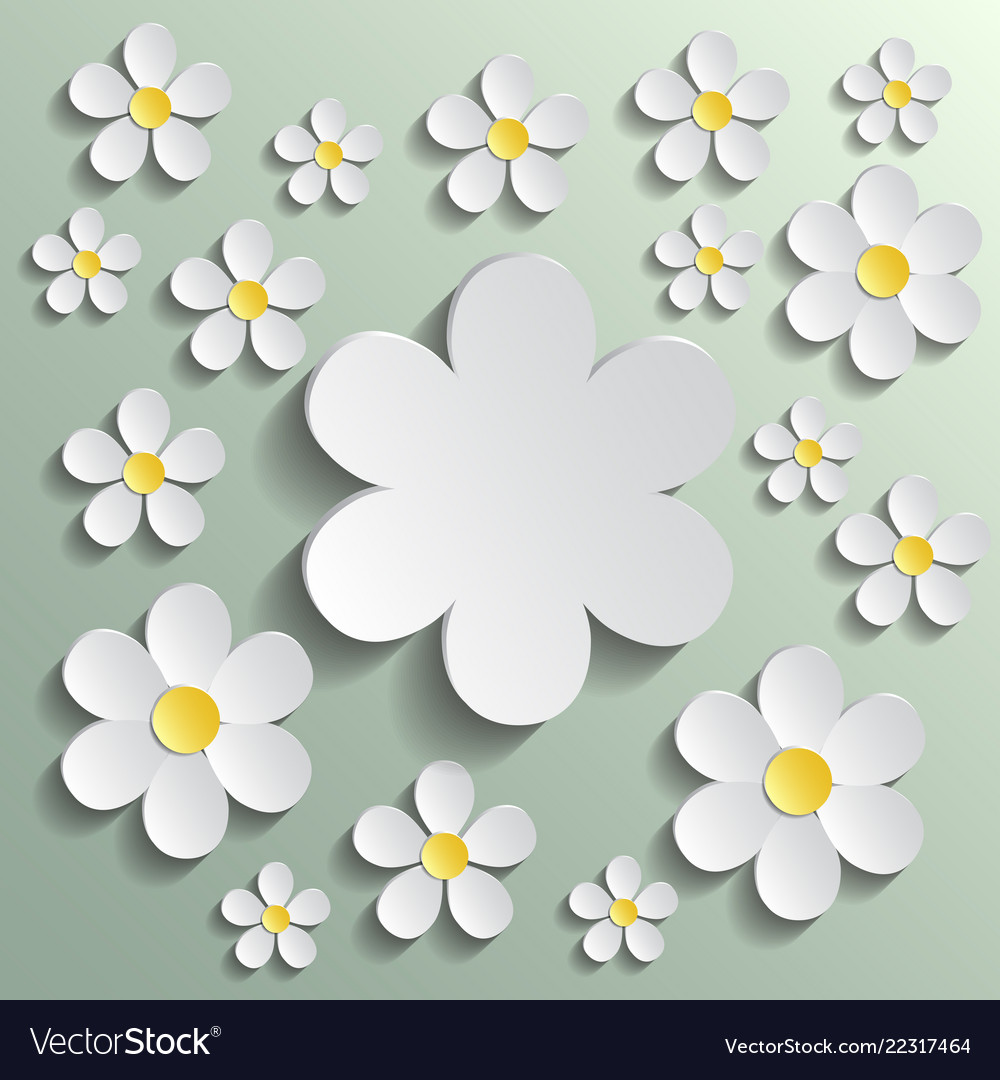 White chamomile pattern wrapping paper textile