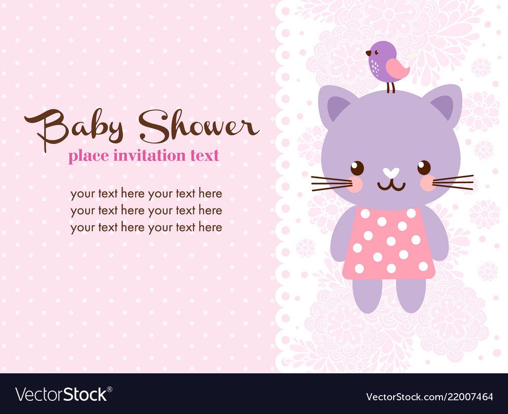 With cute cat in cartoon style