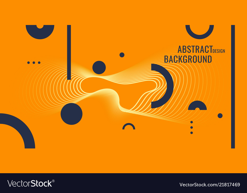 Abstract geometric background poster with the