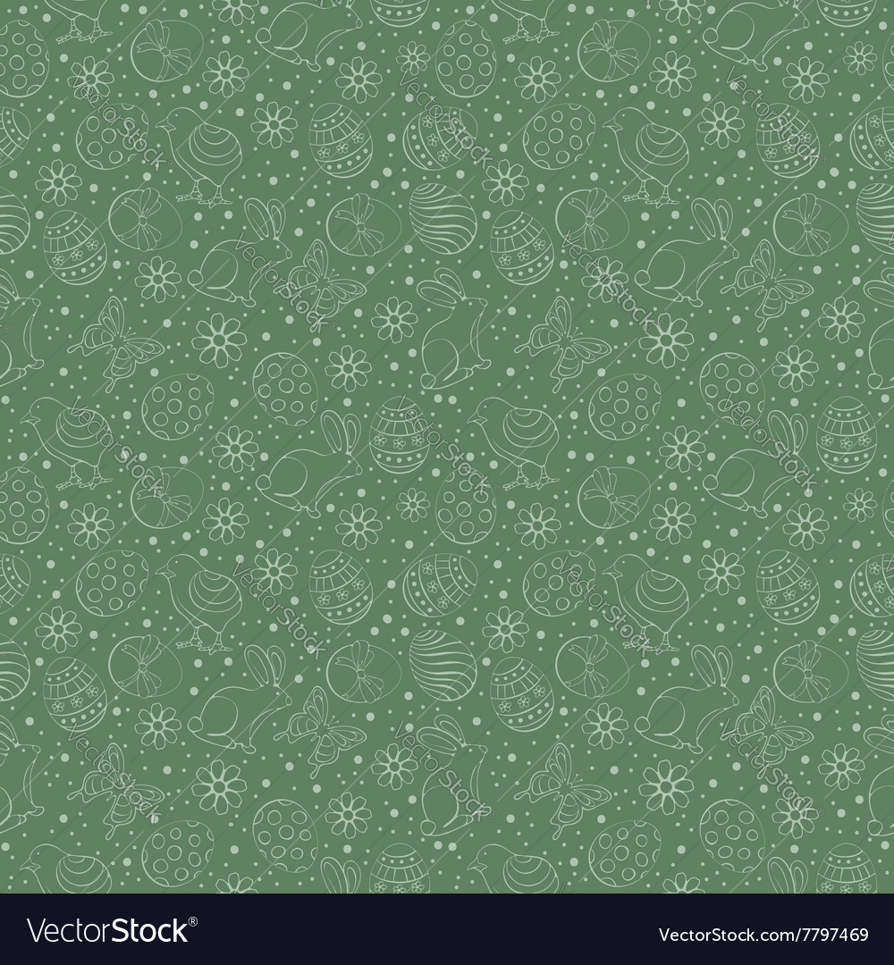 Easter ornate pattern vector image