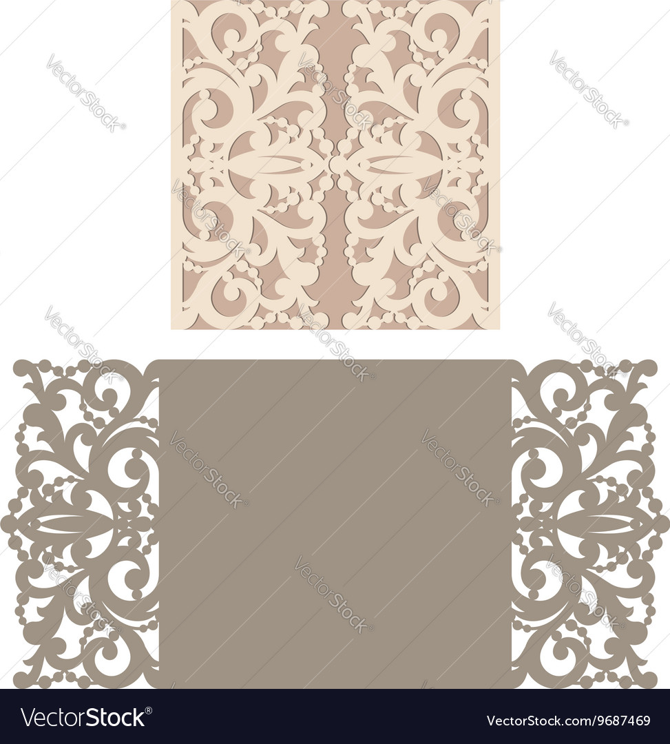 Laser cut envelope template for invitation vector image stopboris Gallery