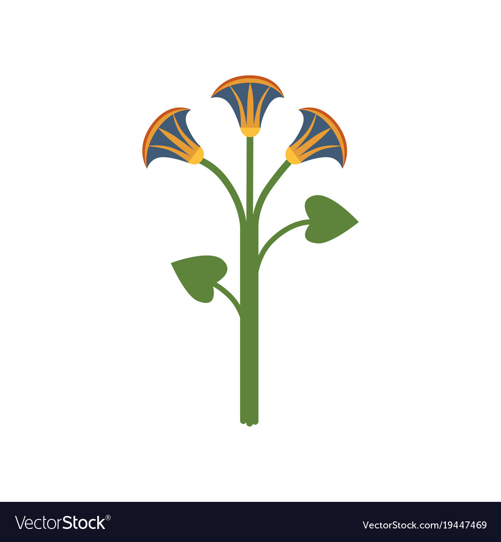 Lotus flower symbol of traditional egyptian vector image mightylinksfo