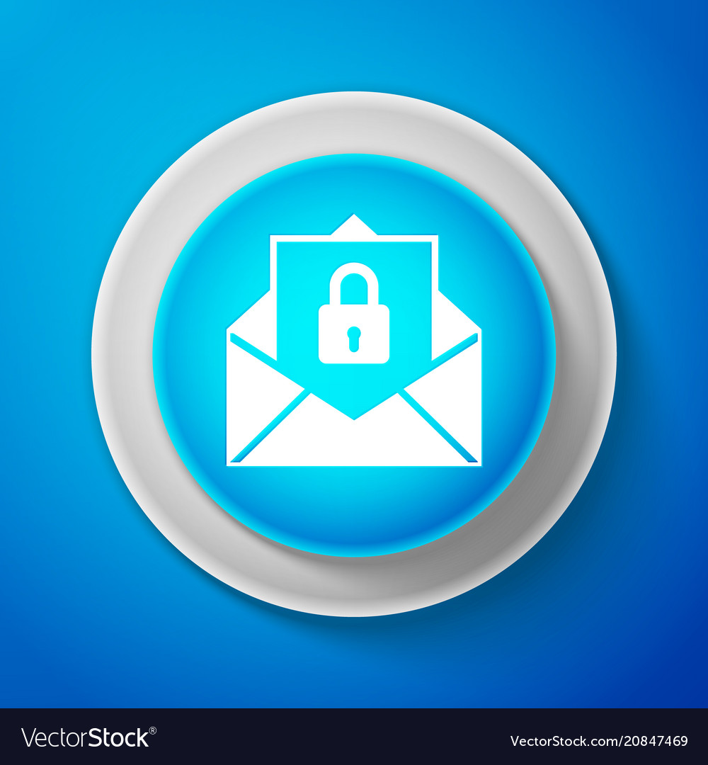Secure mail mailing envelope locked with padlock