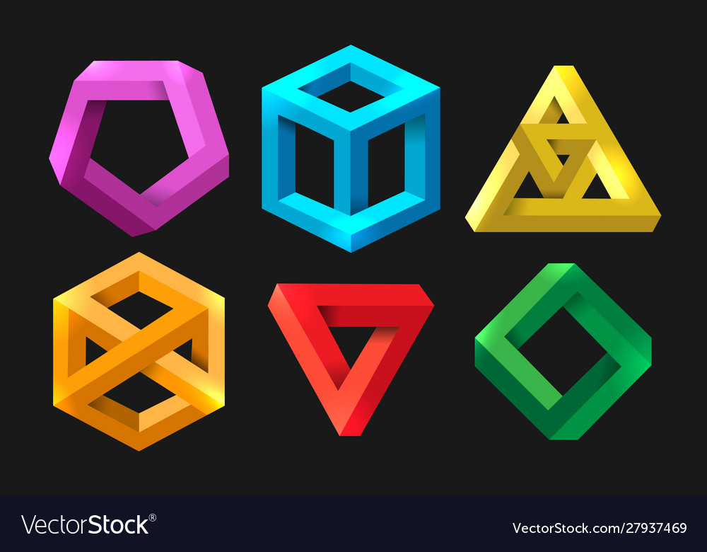 Simple 3d impossible shapes