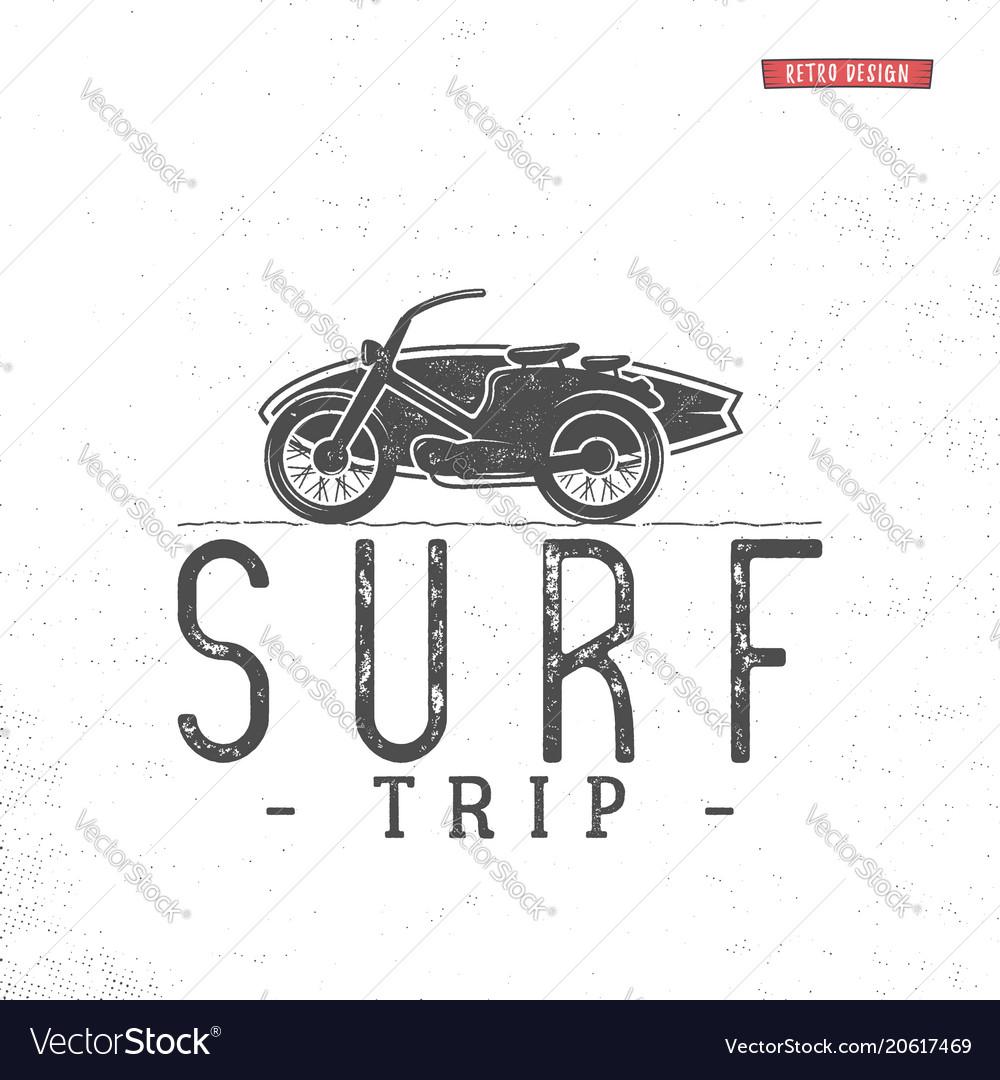 Surf trip concept summer surfing retro