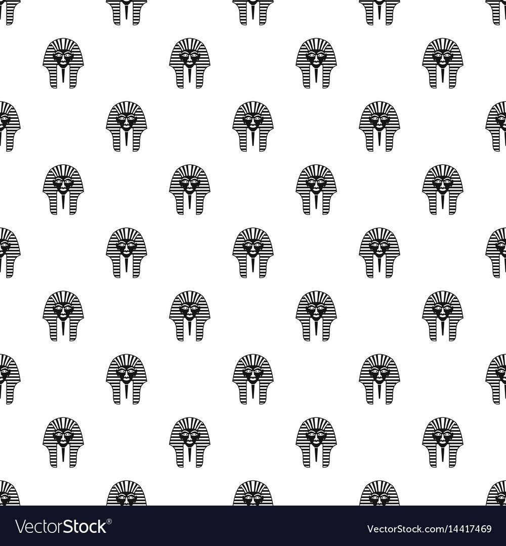 Tutankhamen mask pattern vector image