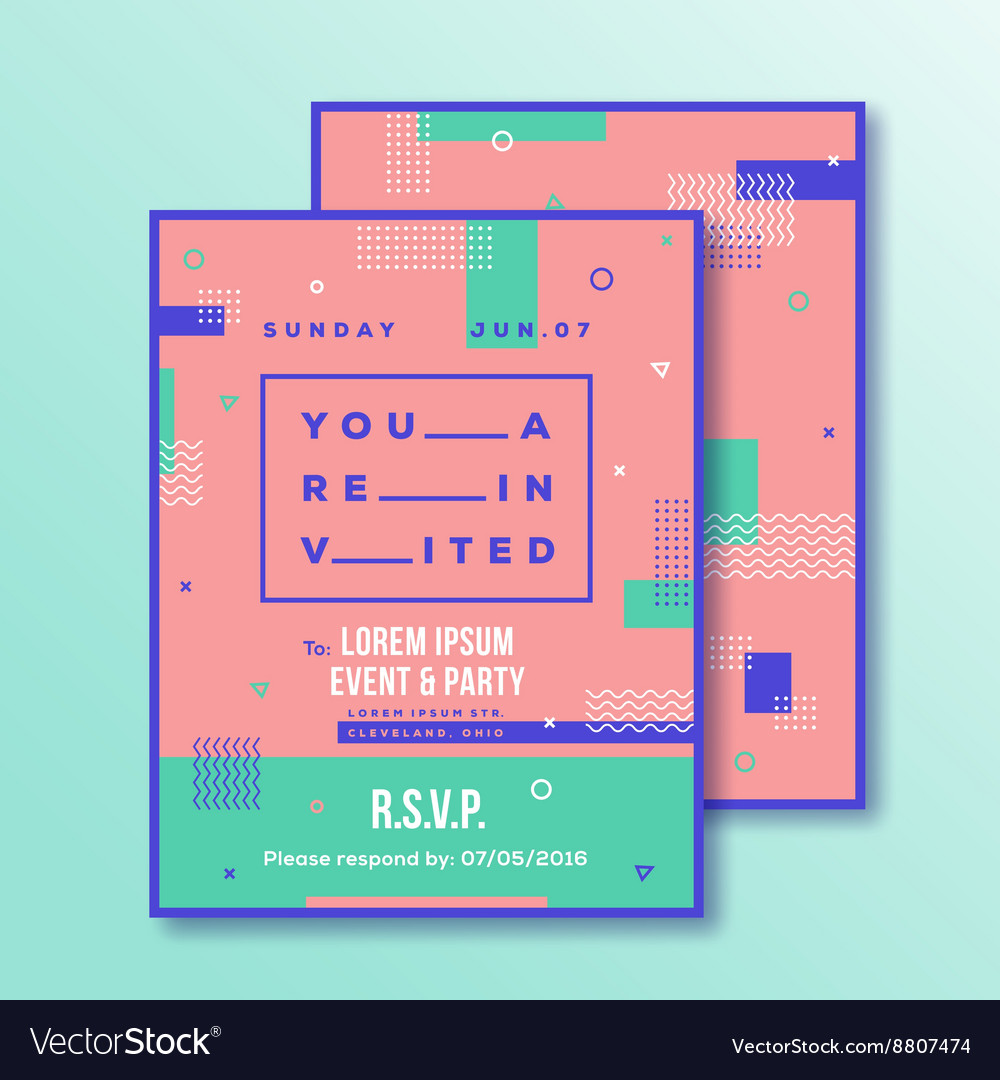 Event Party Invitation Card Template Modern