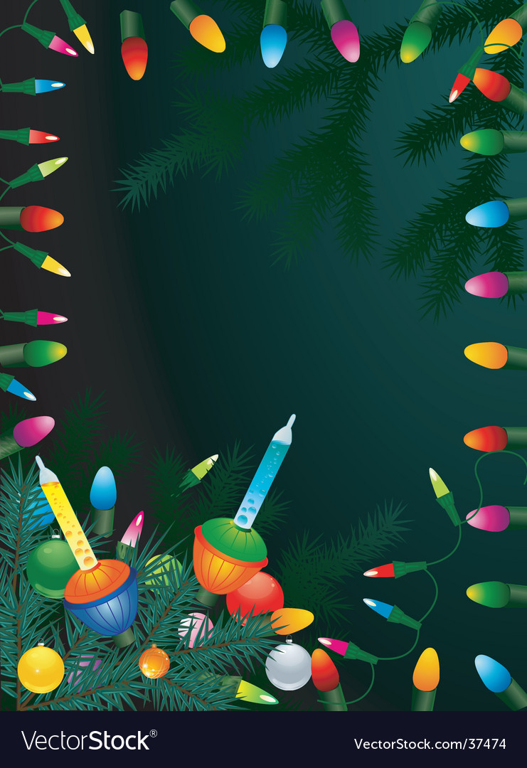 Old fashioned holiday vector image