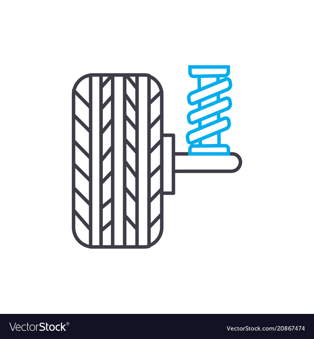 Shock absorbers thin line stroke icon