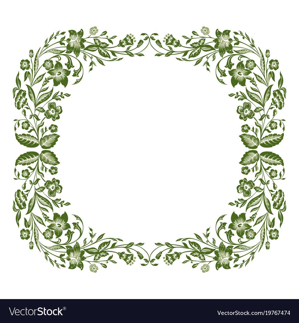 Spring or summer floral frame