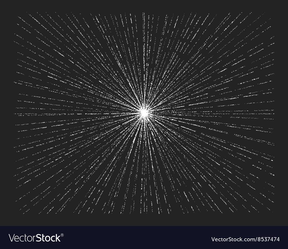 Starburst on blackboard vector image