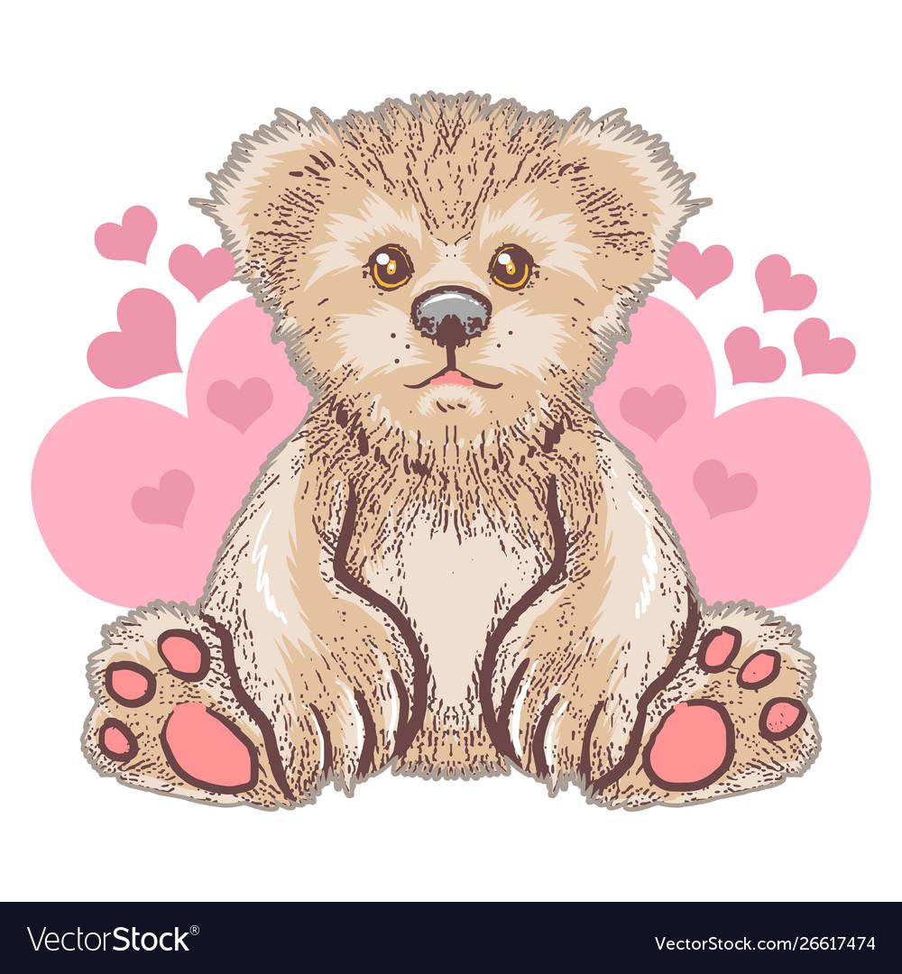 Teddy bear love cute heart artwork