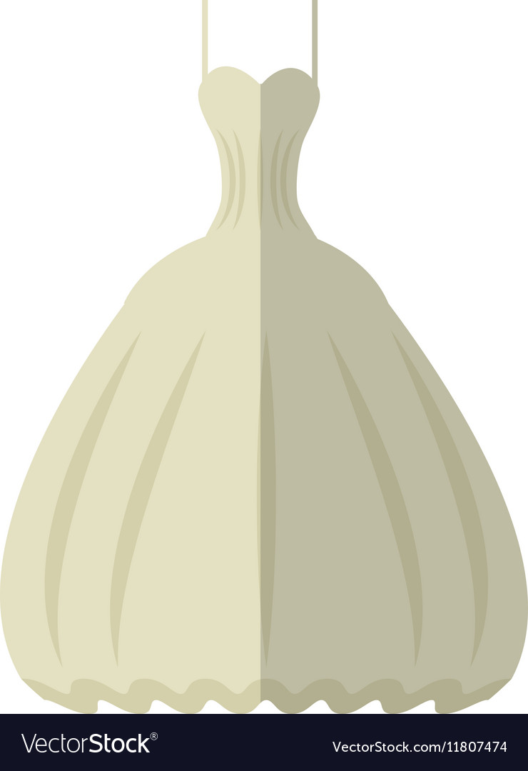 White wedding dress luxury icon vector image