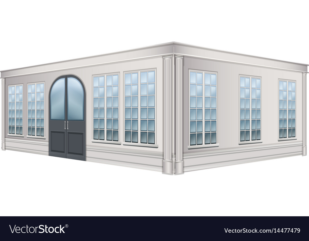 3d design for building with glass windows