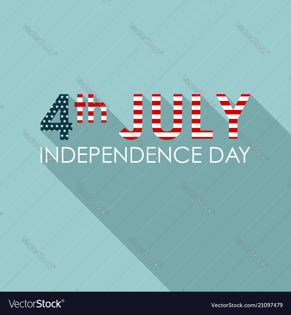 4th of july concept greeting banner american