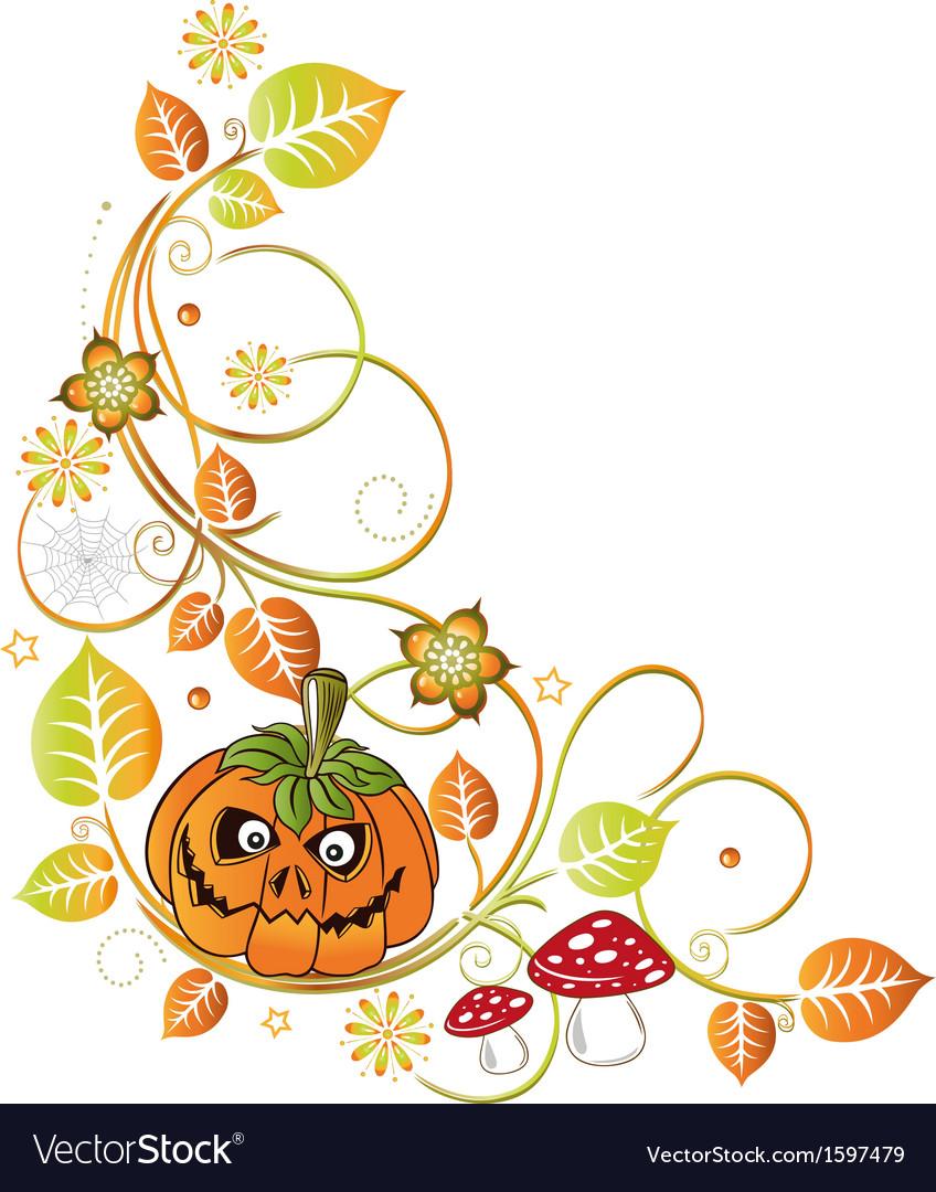 Halloween leaves autumn