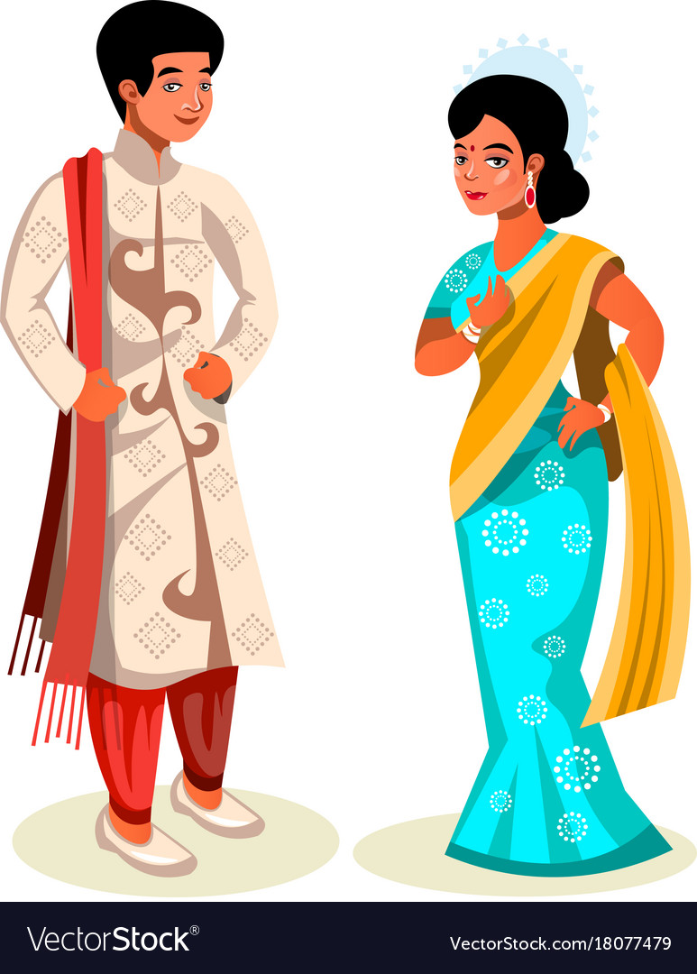 Indian couple in traditional dress