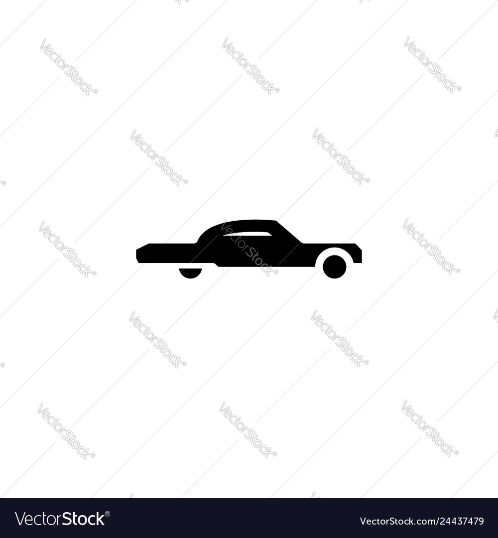 Low rider car icon solid vehicle and