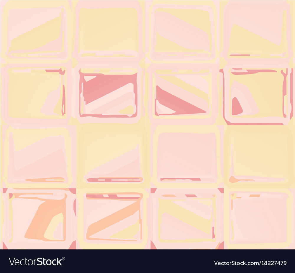 Pink yellow pattern with abstract squares