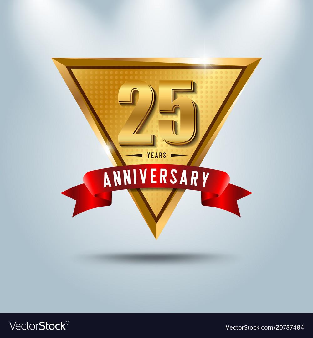 25 years anniversary celebration logotype vector image