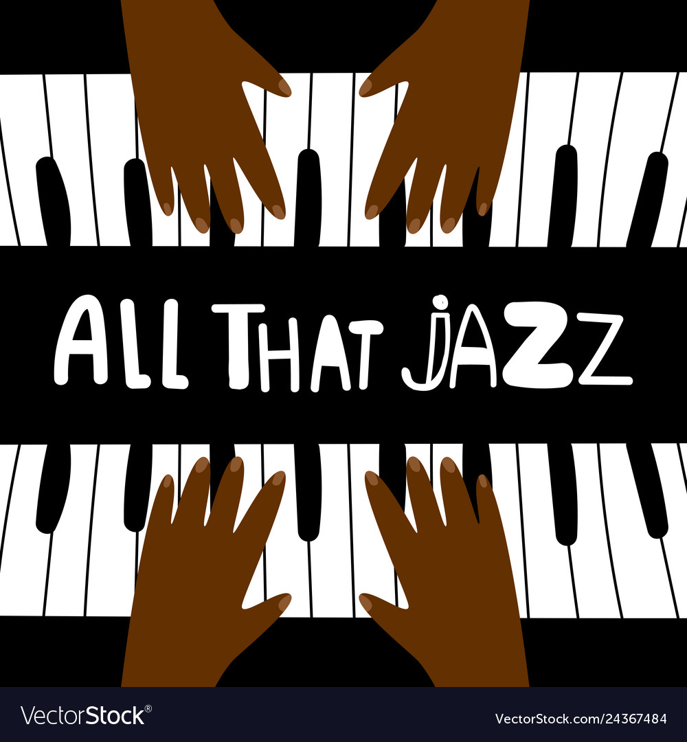 All that jazz music piano poster design