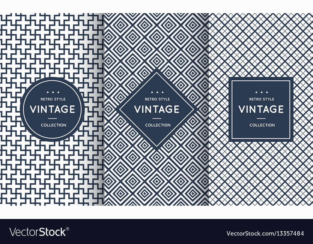 Blue line seamless patterns for universal