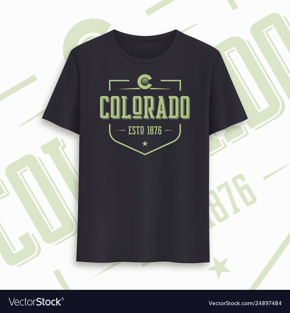 Colorado state graphic t-shirt design typography
