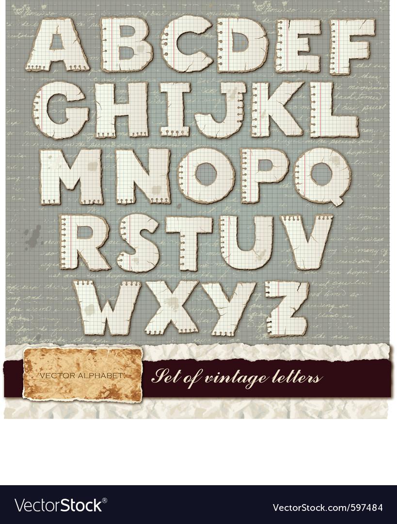 Detailed alphabet