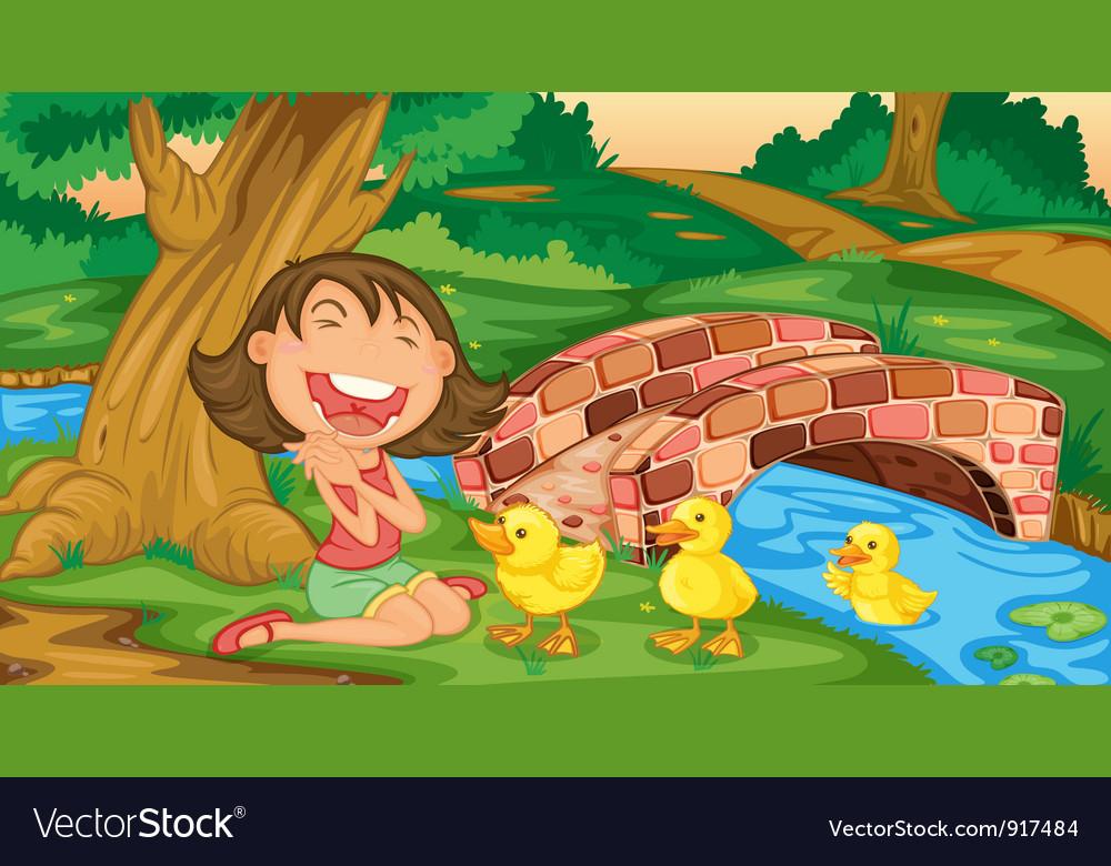 Girl meets ducklings
