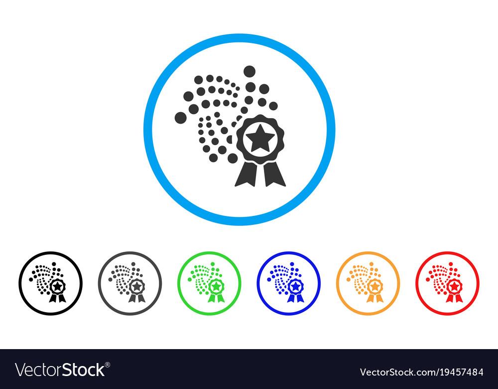 Iota star award rounded icon vector image on VectorStock