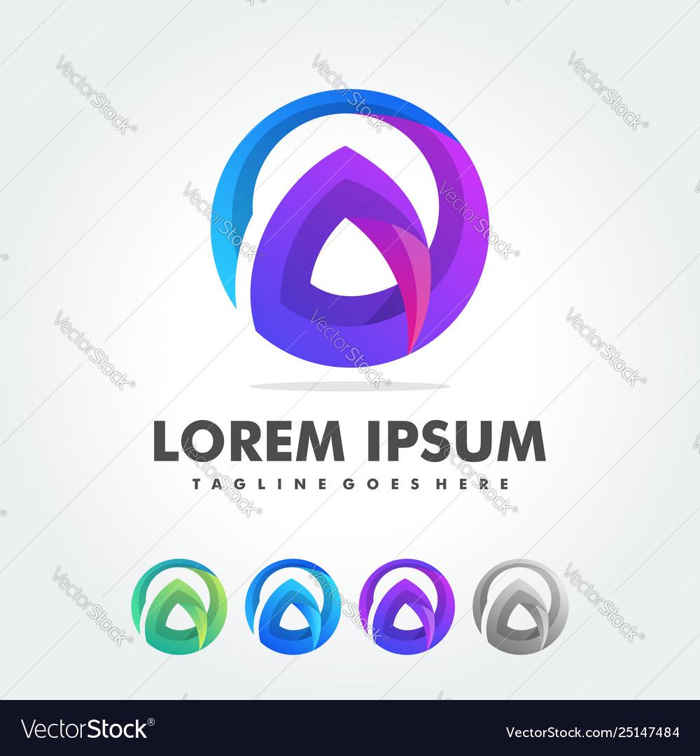 Letter a logo design template