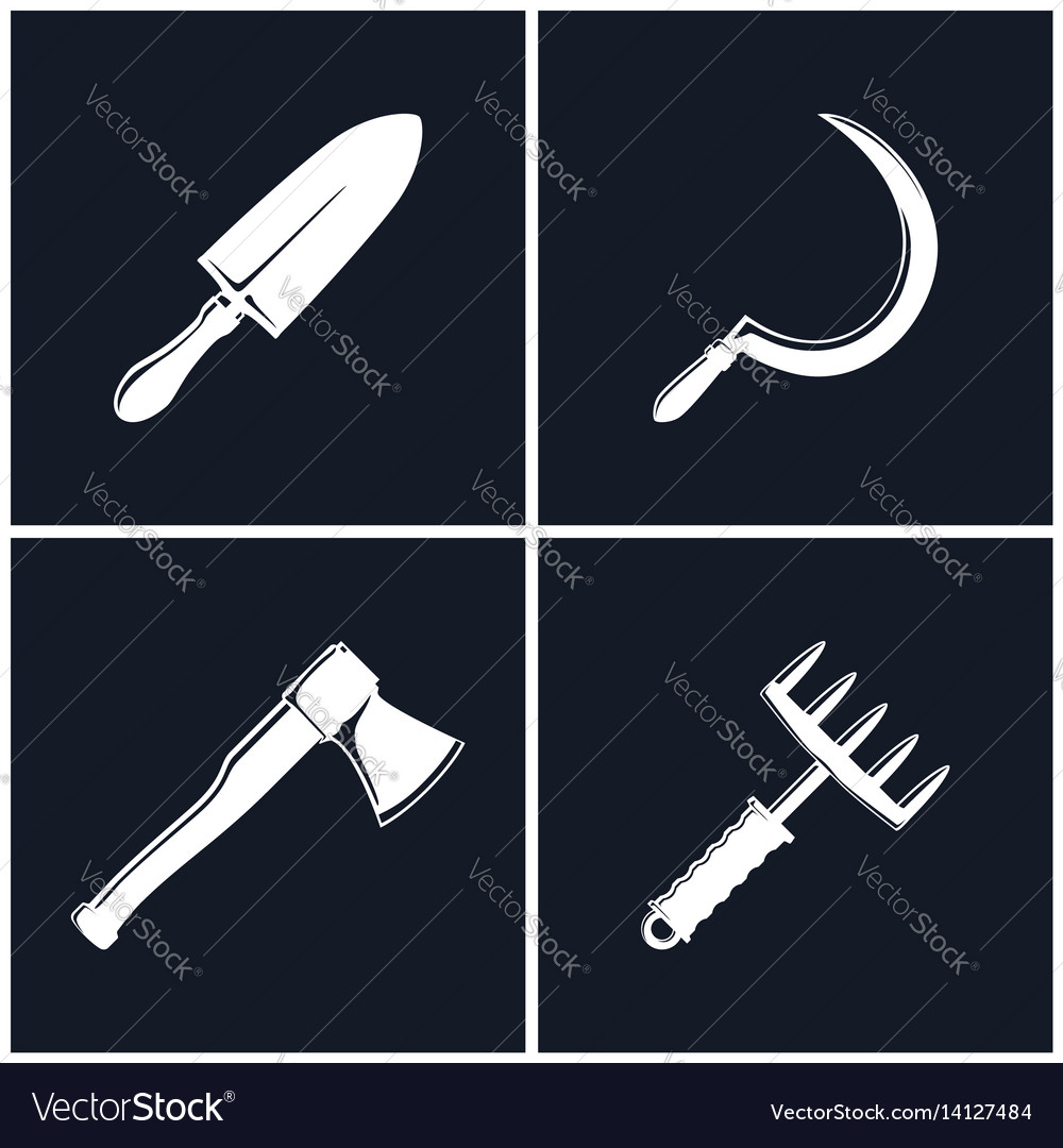 Set of farming tools vector image