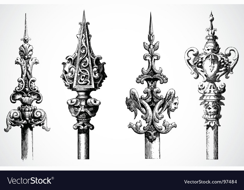 Spear ornaments