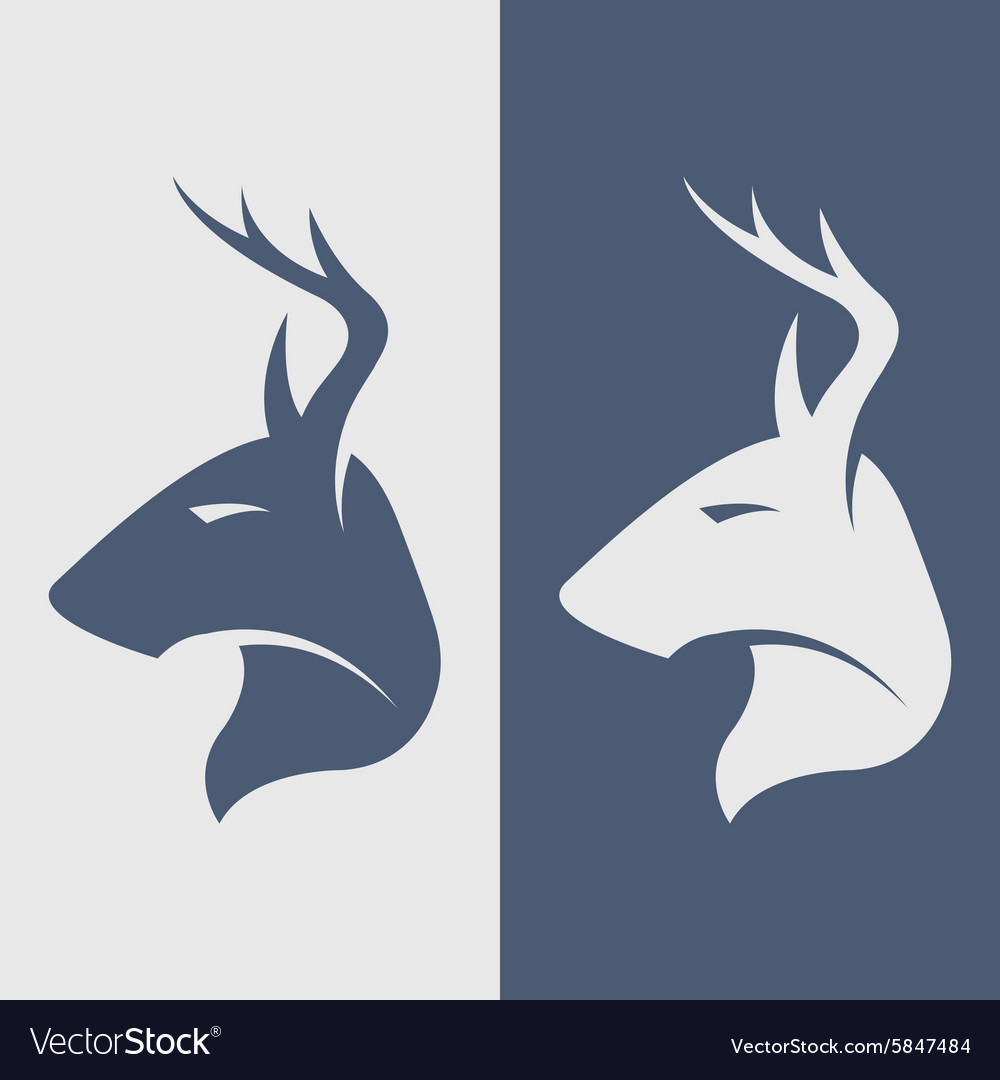 The deer symbol logo icon