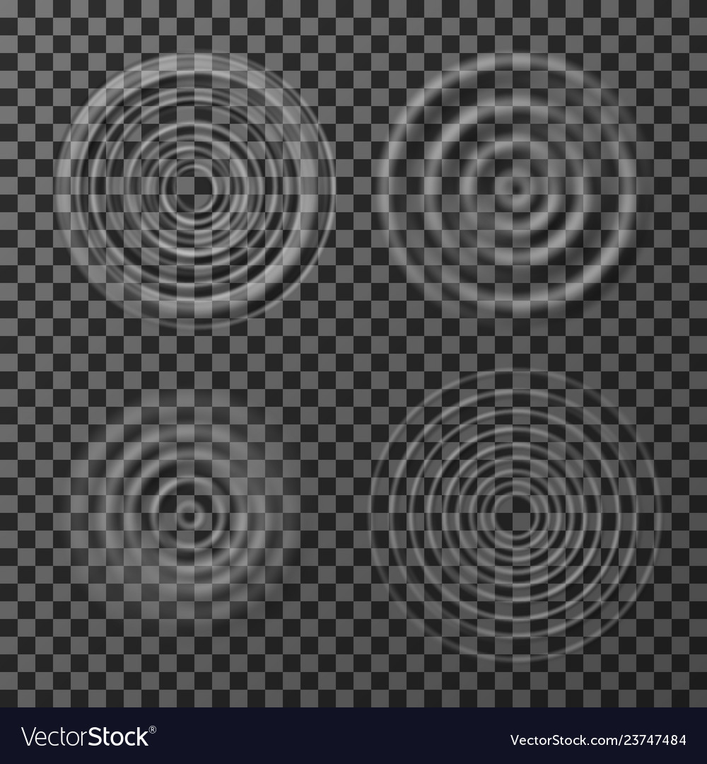 Water ripples sound impact circular ripples
