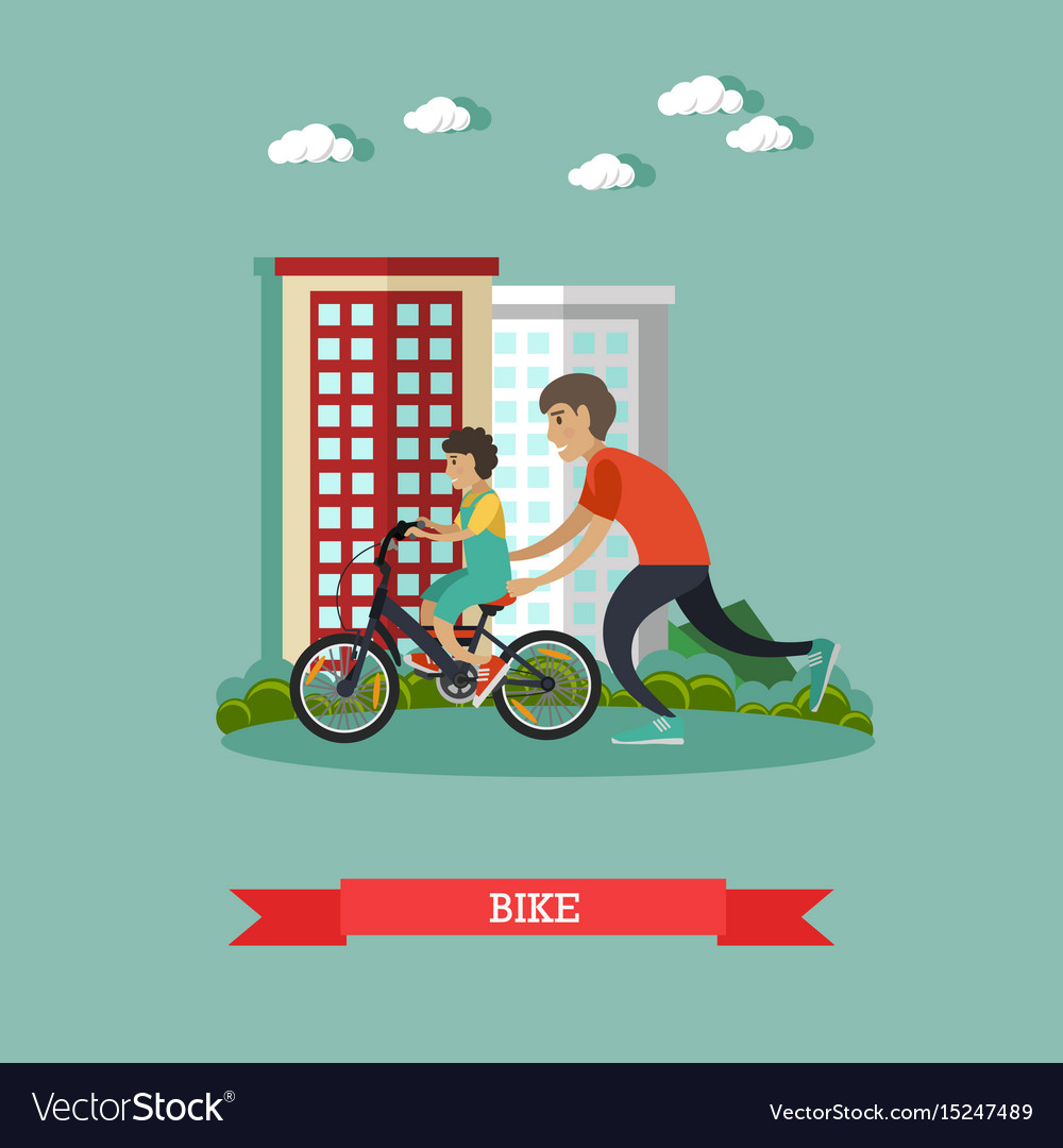 Bike concept in flat style