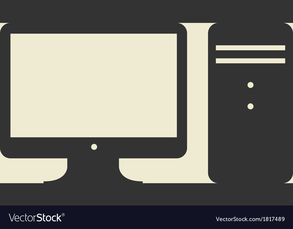 Computer web icon flat design
