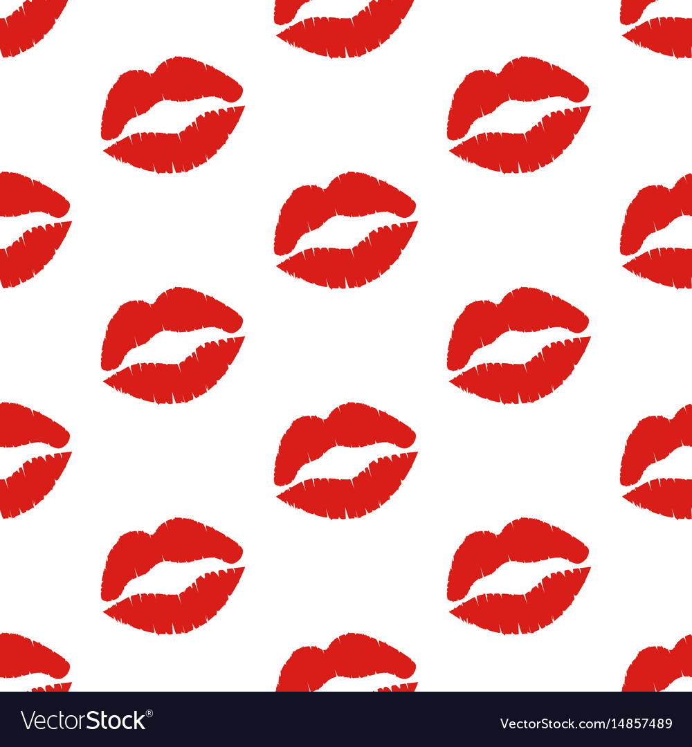 Kiss seamless pattern vector image