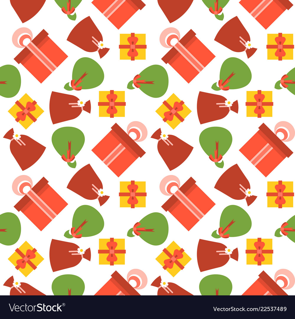 Present gift box seamless pattern suitable for