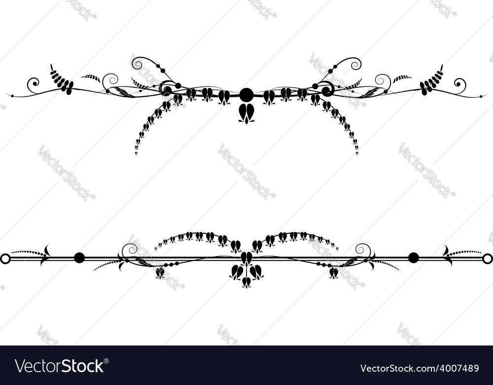 Set of vignettes with flowers of Dicentra vector image