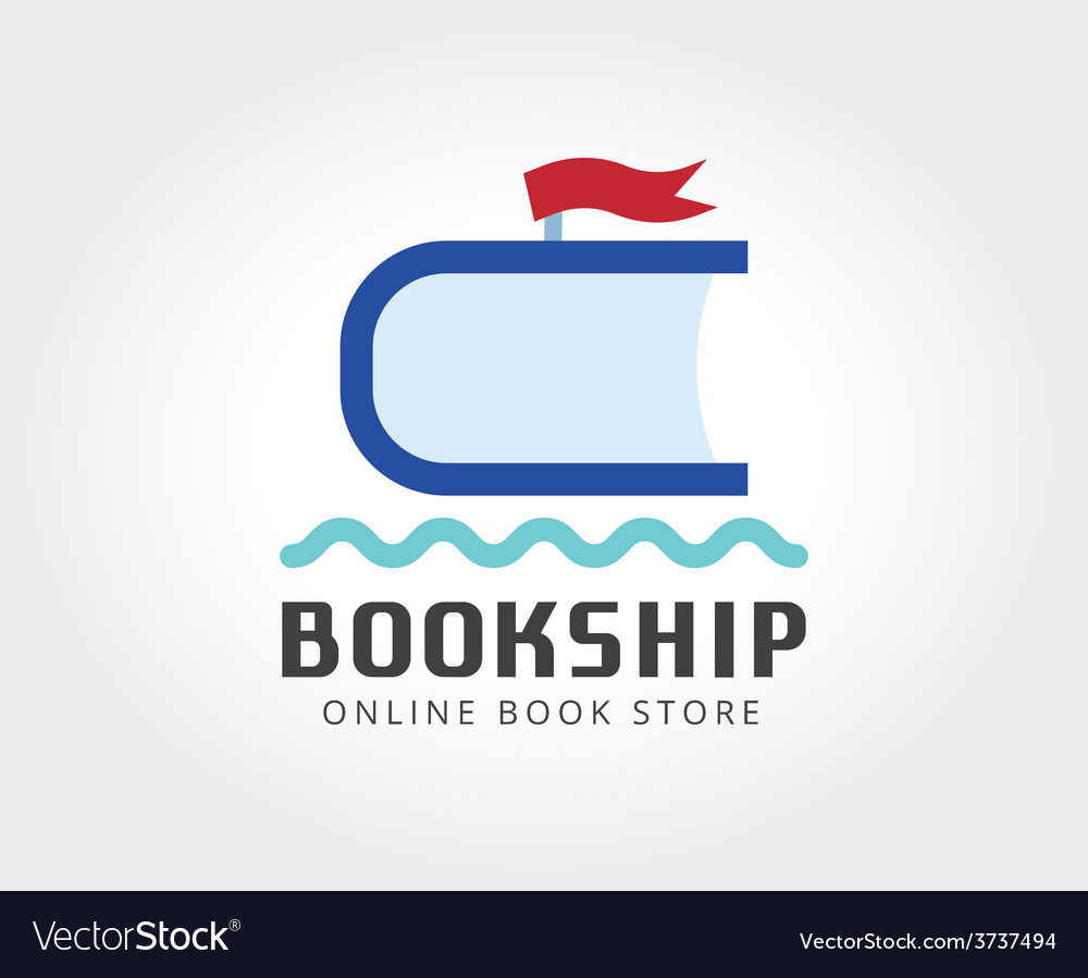 Abstract ship book logo template for branding and