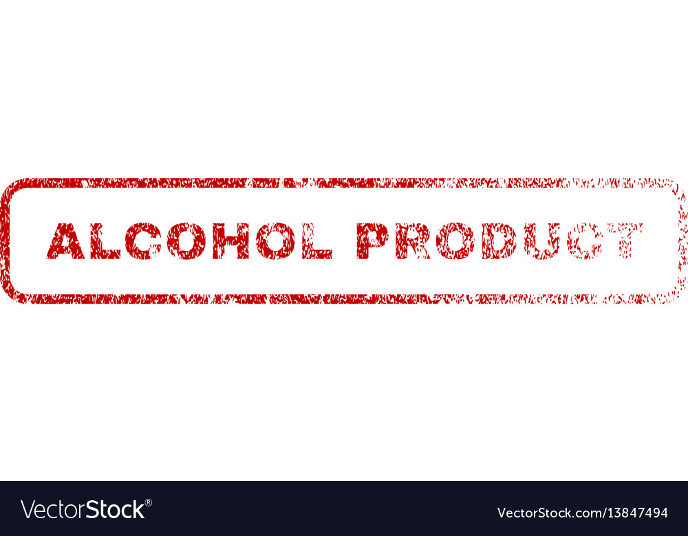 Alcohol product rubber stamp