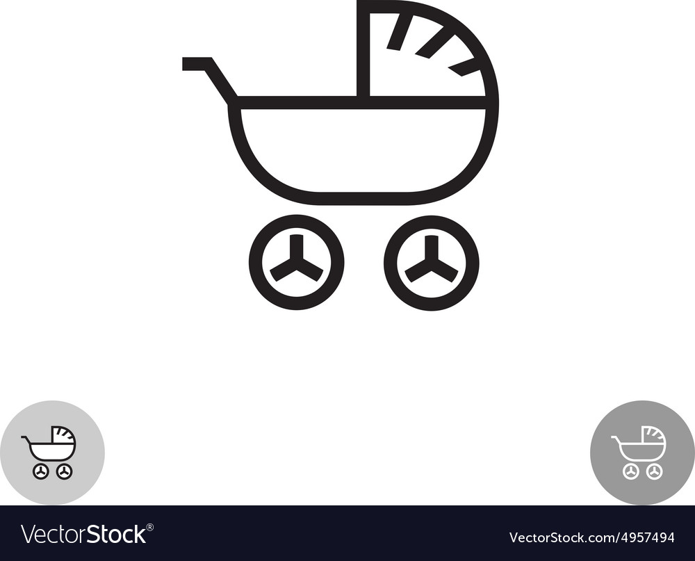 Baby carriage logo
