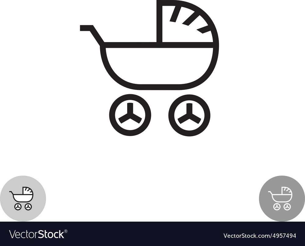 Baby carriage logo vector image