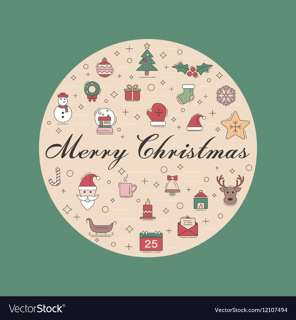 Christmas 08 10 vector image