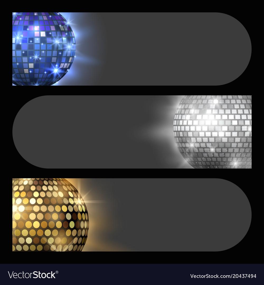 Disco ball discotheque card music party night club
