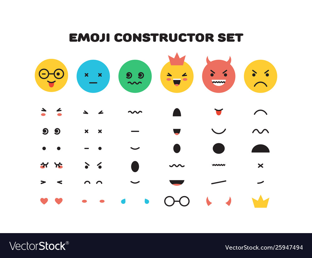 Emoji yellow smiley face character for scenes