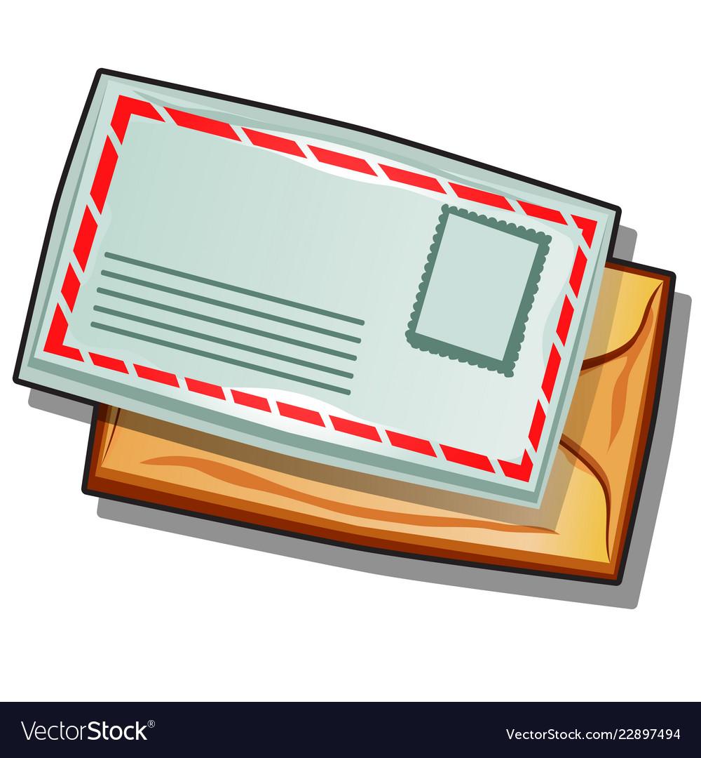 Mailing envelope isolated on white background